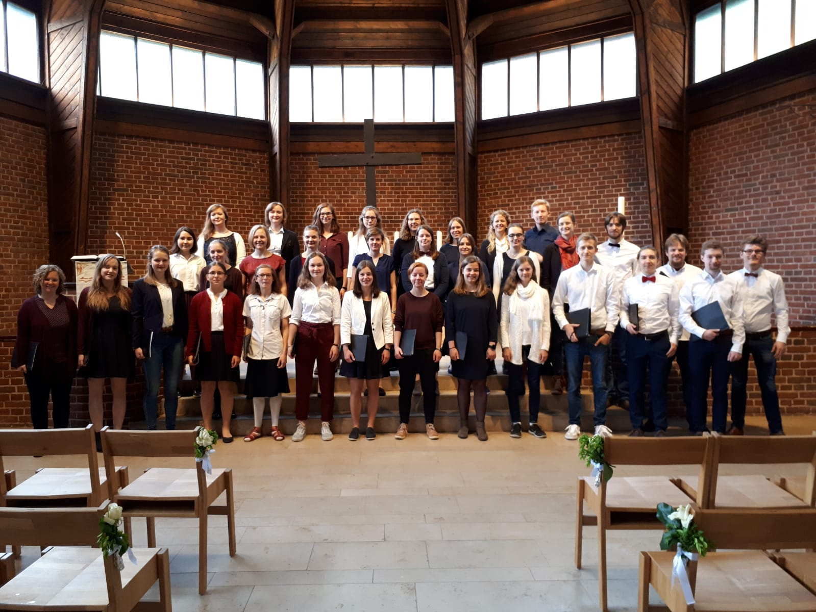 Der Junge Chor Münster bei der Konfirmation 2019 in der Erlöserkirche