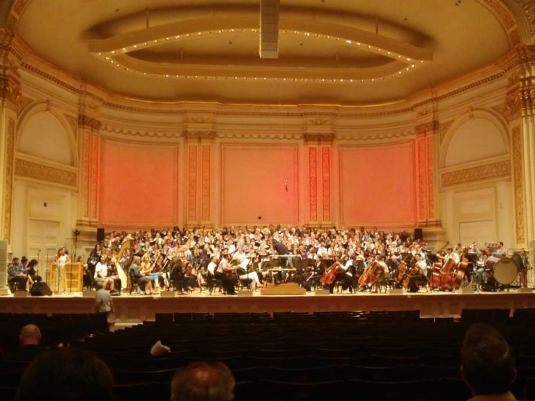 Auftritt Calling all Dawns, Carnegie-Hall, New York